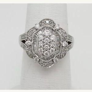 Jewelry - 1 carat 14k white gold vintage style diamond ring
